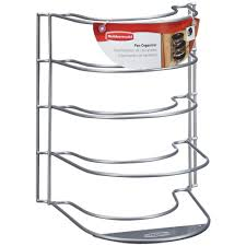 home depot kitchen cabinet organizers rubbermaid 9 5 in l x 10 in w x 12 in h metal in cabinet stand alone pan organizer fg1h4200titnm the home depot