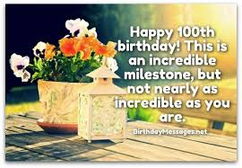 100th Birthday Card 100th Birthday Wishes Birthday Messages For 100 Year Olds