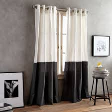 Alton Solid Grommet Window Curtain Panel Buy Black Curtain Grommets From Bed Bath U0026 Beyond