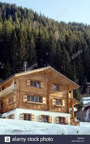 swiss ski lodge chalet resort building wooden alps switzerland