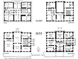 Victorian Era House Plans Kingston Lacy Wimborne Minster Dorset England 1663 1665 With