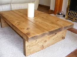 oak end tables and coffee tables coffee table rustic chunky handmade solid wood in home furniture