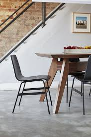 gus modern dining table lecture chair in walnut design by gus modern burke decor