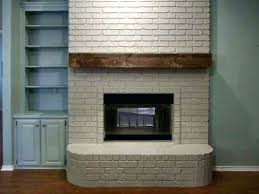 How To Build Fireplace Mantel Shelf - build fireplace mantel over brick living room faux house featured