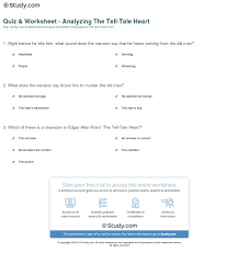 young goodman brown study guide answers quiz u0026 worksheet analyzing the tell tale heart study com