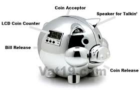 His And Hers Piggy Bank Pig E Bank The Electronic Piggy Bank That Talks To You