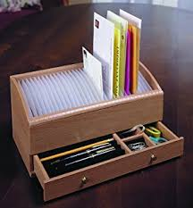 Wood Desk Accessories And Organizers Amazon Com Bamboo Monthly Bill Invoice Organizer With Drawer