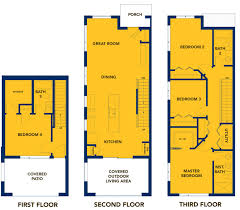 Outdoor Living Floor Plans by South Seattle Tessera Townhouses Bdr Companies