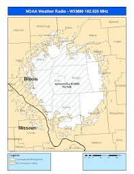 Illinois Weather Map by Noaa Weather Radio Station Wxm 90 Jacksonville