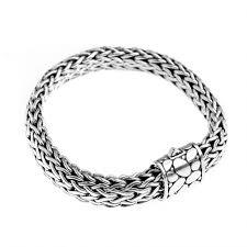 mens clasp bracelet images Sterling silver bali weave boulder design barrel clasp bracelet jpg