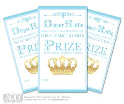 raffle baby shower blue gold prince raffle printable tickets for baby shower