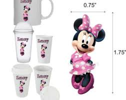 minnie mouse cup etsy