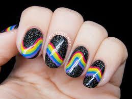 inspired galactic rainbow nail art chalkboard nails nail art blog