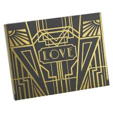 black wedding guest book deco wedding guest book black gold target