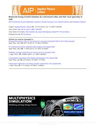 si e m itation resonant energy transfer between eu pdf available