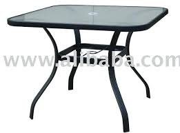 Square Glass Table Top Patio Furniture Round Glass Table Outdoor Furniture Glass Table