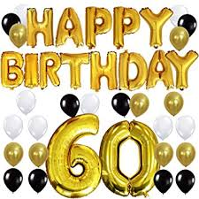60th birthday party decorations kungyo 60th birthday party decorations kit happy