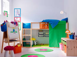 idee deco mezzanine rangement chambre enfant ikea