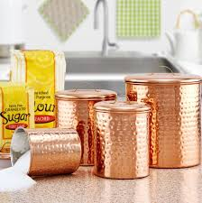 copper kitchen canister sets old dutch hammered 4 piece kitchen canister set reviews wayfair