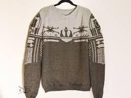 wars sweater wars sweater sleeve knit rebel alliance r2d2