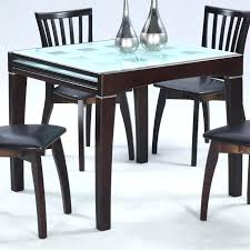 round table and chairs expandable kitchen table contemporary glass top expandable kitchen