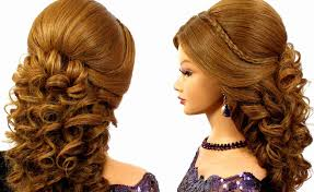 photo hairstyles for prom for long hair romantic wedding prom