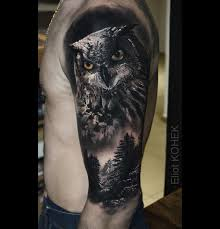 owl u0026 forest best tattoo design ideas