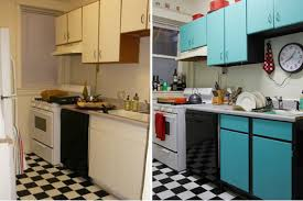 Blue Before And After Painted Kitchen Cabinets  Decor Trends - Blue painted kitchen cabinets