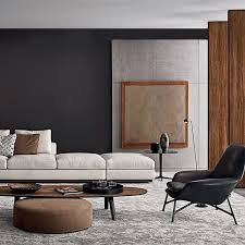 contemporary livingroom overlaying perfectly balanced shapes to create timeless design