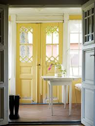 the yellow front door a cheerful entrance