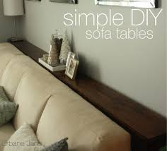 sofa table behind couch urbane jane simple diy sofa tables