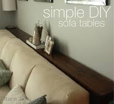 Diy Sofa Table Simple Diy Sofa Tables Urbane