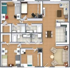 four bedroom floor plans floor plans sycamore apartments