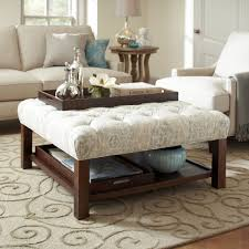 coffee table wonderful ottoman table top square tufted ottoman