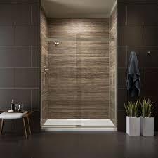 Kohler Frameless Sliding Shower Door Kohler Levity 59 In X 74 In Semi Frameless Sliding Shower Door
