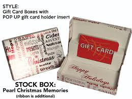 pearl memories gift card box with pop up swipeit