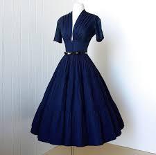 1940s dresses vintage 1940 s dress vavavoom forties navy cotton skirt