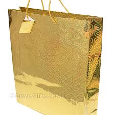 big gift bags gift bag gold holographic gift bag