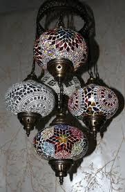 Mosaic Chandelier Turkish Turkish Mosaic 5 Globe Chandelier Color Burst U2013 Snazzy Bazaar