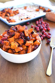 cinnamon roasted sweet potatoes cranberries