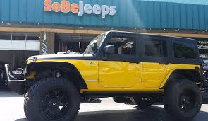 jeep rubicon yellow 2015 jeep wrangler unlimited rubicon sobe jeeps custom jeep
