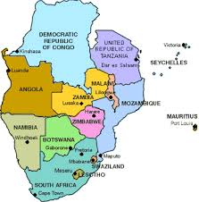 africa map all countries southern development community sadc south
