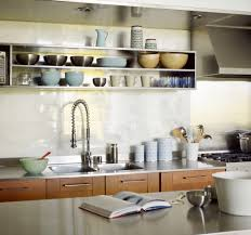 kitchen open shelving kitchen contemporary with double sink island