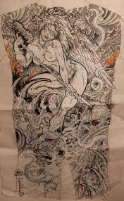 tim lehi tattoo drawings from the past few years backs