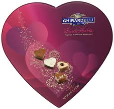 amazon com ghirardelli valentines day sweethearts heart shaped