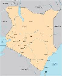 geographical map of kenya map kenya centre for intercultural learning