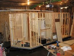 bathroom in garage home built travel trailer project december 2011