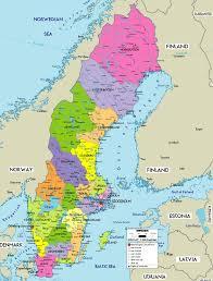 map of sweden large political map of sweden