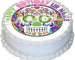 sugar skull cake topper skull cake topper etsy