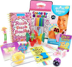 the bag travel toys for 6 to 9 year old girls is filled with